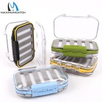 Atacado- Maximumcatch Waterproof Fly Fishing Box com Slit Foam Fish Lure Gancho Bait Fly Box Fishing Tackle Box