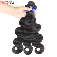 Wholesale processed virgin brazilian hair resale online - Peruvian Human Virgin Hair Body Wave Bundles Grade A Bundles Prices Without Any Chemical Processing Optional Malaysian Ect