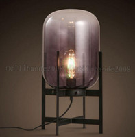 Wholesale Black Metal Lamp Shade - 2017 NEW New style Hot Sale Unique Style Iron glass shade table lamp indoor lamp light E27 modern styled MYY