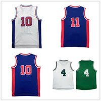 Wholesale D R L - 2017 Christmas Retro D s R n #10 jersey High quality 100% Stitched #11 I h jersey Cheap sales Embroidery Logos Fast free shipping
