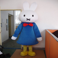 Wholesale Miffy Rabbit Costume - Miffy rabbit Adult Mascot Costume for Adults can wear mascot dolls dress