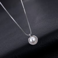 Wholesale Unique Pearl Jewelry - The unique design jewelry clavicle S925 sterling silver shell pearl necklace for ladies girls wild pendant necklace jewelry Meet marry bride