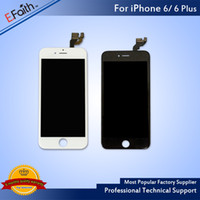 Wholesale Replacement Frame Assembly - For Black Grade A +++ LCD Display Touch Digitizer Complete Screen with Frame Full Assembly Replacement For iPhone 6 iPhone 6 Plus