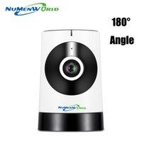 Wholesale Wireless Ip Kamera - 180 Degree Panoramic Fish Eye Lens IP Camera Wifi Wireless Night Veresion kamera APP Remote Control Wireless P2P IP Webcam