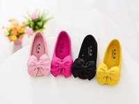 Wholesale Kids Shoes Bows - 2017 hot sell kid leather shoes for fran ,group code FPS