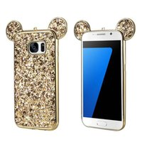 Wholesale Electroplated Battery - Soft TPU Electroplating Case Glitter Bling Protective Cover Skin for iPhone 6 7 Plus Sasmung S8 S8 Plus