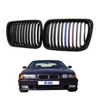 Wholesale Bmw 328i - Front Kidney Grill Grilles For BMW E36 1997-1998 318i 320i 323i 325i 328i