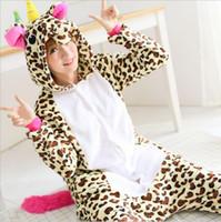 Wholesale animal sleepsuit - New Winter Flannel Sleepsuit Adult Cartoon Pikachu Pajamas Unisex Onesie Pyjamas Cosplay Costumes