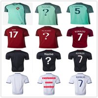 Wholesale Cheap Green Shorts - Portugal Football 7 Cristiano Ronaldo 8 SILVA 5 F.COENTRAO 4 MIGUEL 8 J.MOUTINHO 17 NANI 22 CARVALHO Cheap Portuguese Soccer Jerseys