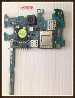 Wholesale note motherboard resale online - 100 Working Unlock Original Motherboard For Samsung Galaxy note N9006 GB Mainboard Board Clean IMEI
