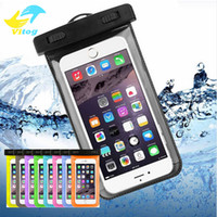 Wholesale Diving Waterproof Bag Case - Dry Bag Waterproof case bag PVC Protective universal Phone Bag Pouch With Compass Bags For Diving Swimming For smart phone up to 5.8 inch