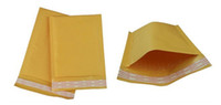 Wholesale Bubble Post - 250*300mm 320*360mm Self Adhesive Padded PE film bubble poly Envelope Shipping Yellow Mailing Post Bag Universal Kraft Packing Bubble Bags