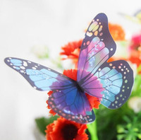 crystal butterfly stickers Canada - 3d crystal Butterfly Wall Sticker Art Decal Home decor for Mural Stickers DIY Decal PVC Christmas Wedding Decoration 1set=18pcs GA92