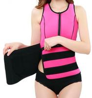Wholesale Sauna Pink Belt - 1 Pc Lot Women Neoprene Sauna Waist Trainer Vest Hot Shaper Summer Workout Shaperwear Slimming Adjustable Sweat Belt Fajas Body Shaper