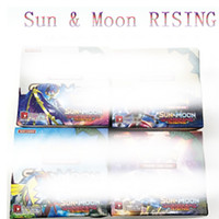 Wholesale Rose Papers - 2018 NEW 324pcs lot Poke Monsters RISING SUN&MOON Cards Games 4 Styles Anime Pocket Monsters Cards Toys Children Card Toys