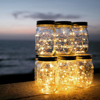 Wholesale Hanging Jars - Solar-powered Mason Jar Lights (Mason Jar & Handle Included),10 Bulbs Warn White Jar Hanging Light,Garden Outdoor Solar Lanterns