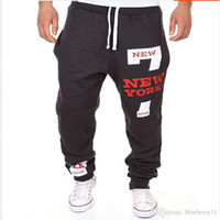 pantalones de baile holgados al por mayor-Hombres Dance Baggy Harem Pants Sweat Pants Hip Hop Mens Pantalones de diseño Streetwear Sport Jogger Pantalones Ropa de gimnasia envío gratis