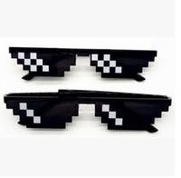 Wholesale wholesale pixel sunglasses online - 2017 fashion hot sale Thug Life Glasses Bit Pixel Deal With IT Sunglasses Unisex Sunglasses