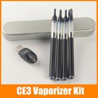 Wholesale E Cigarette Tin - O pen CE3 Tin kit 510 thread oil atomizer electronic cigarettes vaporizer e cig kits 0.4ml 0.6ml 1.0ml