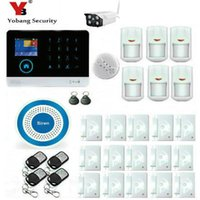 Großhandel-YobangSecurity Wireless WIFI GSM GPRS Home Security System Alarm Wireless Outdoor IP-Kamera Sirene Rauchmelder iOS Android App