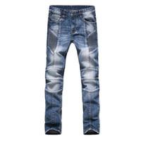 Wholesale New Jeans Designs For Men - Wholesale-Fashion Men Jeans New Arrival Design Slim Fit Fashion Jeans For Men Good Quality Blue Black Y2031