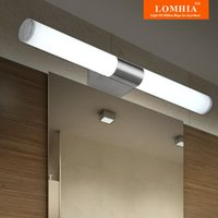 Wholesale Lighted Wall Makeup Mirror Led - Modern LED Stainless Steel Bathroom Wall Lights Makeup Lamp Wall Mirror Light Ac90-260v vanity lighting fixtures new