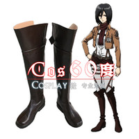 Wholesale Attack Titan Shoes - Wholesale-Attack on Titan Shoes Anime Shingeki no Kyojin Cosplay Party Brown Boots Original Design