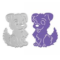 Wholesale Diy Cute Card - Cute Dog Metal Cutting Dies Stencils DIY Embossing Scrapbooking Decorative Paper Card Craft