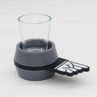 Wholesale drink games - Creative Design Spin The Shot Glass Turntable Toys Drinking Game Bar Party Supplies High Quality 10jk C R