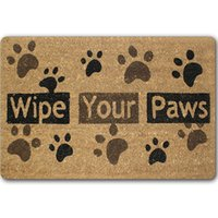 Flocked outdoor rubber rugs - Dog Paw Funny Words Go Away Rubber Indoor Outdoor Welcome Anti Slip Kitchen Mat Rugs Doormat For Entrance Door Pad Tapetes Mats