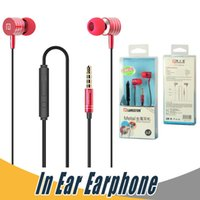 Wholesale I Phone Ear - Langsdom I-7 Metal Stereo Bass In-Ear Earphone Super Clear Noise Cancelling Earphone with Mic Handsfree For iPhone Samsung Mobile Phone