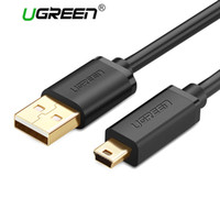 Wholesale Mini Usb Mp3 - Ugreen Mini USB Cable Mini USB to USB Fast Data Charger Cable for Cellular Phones MP3 MP4 Player GPS Digital Camera HDD