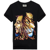 Wholesale Wholesale Bob Marley T Shirts - Hot Sale 2017 BOB MARLEY Print New Style Round Neck T-Shirt Rock Sir Style Promotion Price