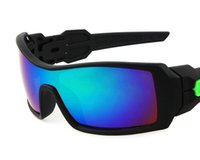 Wholesale Oil Colours - Men Women Fashion Designer Sunglasses Oil Rig Outdoor Sports Wind Goggle Sun Glasses Dazzle colour Resin lenses Low Price Free Shipping