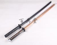 entrenamiento de esgrima al por mayor-Express envío gratis buena calidad Kendo Shinai Bokken espada de madera cuchillo tsuba, katana nihontou esgrima entrenamiento Cosplay COS espada de entrenamiento