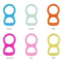 Wholesale Dummies For Babies - Colorful Silicone Pacifier Adapter Rings For Button Style Baby Pacifier Ribbon Clips Mam Rings Dummy Pacifier Holder 1 28ka J