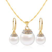 plataformas de diamante perla al por mayor-Fine colgante, collar, pendiente, joyería, conjunto, mercancías, comercio, plataforma, con, micro, perla, diamante, conjunto, joyería, novia
