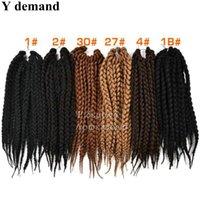 boxen für haarverlängerungen großhandel-18 '' Box Zöpfe Haarverlängerungen 95 gr / paket Groß Häkeln Latch Hook Senegalese Havanna Mambo Twist Flechten Haar Y nachfrage