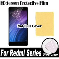 Wholesale Iphone 3s Screen - Wholesale- HD Clear Screen Protector Display Protective Soft Film For XiaoMi RedMi Note 4 4X 4A 3 3X 3S 2 2A Pro Prime