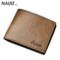 Wholesale First Class Shipping - First Class Pu Leather wallets men Vintage purse famous brand man wallet high quality cheap price purse small Free shipping !!