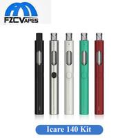 Wholesale One E Cigarette - Authentic Eleaf Icare 140 Starter Kit 650mAh E Cigarette Vape Pen with 2ml All in One 100% Original