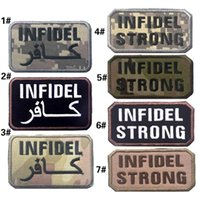 VP-209 CALDO! Morbide ricamate patch INFIDEL Tactical Badge Armband INFIDEL STRONG Ferro su patch per CAP / giacca ricamo militare patch