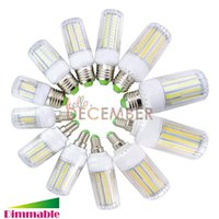 Wholesale E14 Corn Light Dimmable - Dimmable LED Corn Bulb Lights 7W 12W 15W 18W 21W 30W E12 E14 E26 E27 B22 LED Lamps AC 110-240V