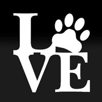Wholesale Dog Vinyl Wall Decals - (50 pieces  lot) Wholesale Car Styling LOVE PAW Sticker Vinyl Car Window Decal Cute Animal Pet Dog Cat Wall Art car accessories