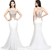 Wholesale Celebrity Red Carpet Lace Dresses - Beads Appliques Satin Red Carpet Celebrity Dresses 2017 Evening Dresses Formal Pageant Party Gowns Sexy Prom Dress Sweep Train CPS635