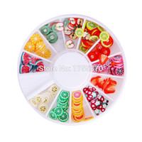 Wholesale fimo nail polymer online - DIY Nail Art Decorations Fruit Slices D Polymer Clay Tiny Fimo Wheel Nail Art Rhinestones Acrylic Decoration Manicure