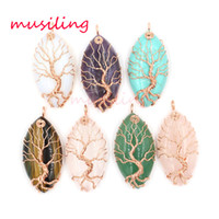 Wholesale wholesale fashion jewelry for sale - Pendants Necklace Chain Horse Eye Tree of Life Jewelry For Women Charms Bohemian Healing Chakra Wicca Witch Amulet Fashion Jewelry