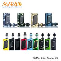 Wholesale 3ml T - Original SMOK Alien Starter Kit 220W and 3ML TFV8 Baby Tank & 0.4ohm V8 Baby-Q2 Core & 0.15ohm V8 Baby-T8 Core VS T-Priv