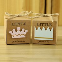 Wholesale Wholesale Princess Bags - Baby Shower Favors Creative Personality European Paper Bag Prince And Princess Cross Air Mail Plane Wedding Celebration Paper Gift Box