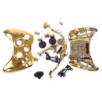 Wholesale Wholesale Xbox Controller Shells - Chrome Plating Plated Full Housing Shell Case Kit Replacement Parts for Xbox 360 Wireless Controller High Quality FAST SHIPPING